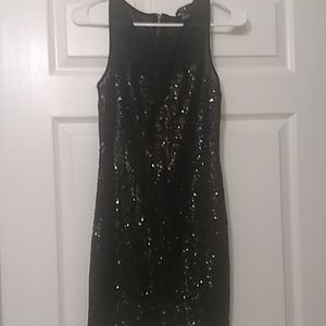 Sexy sheer and sequins dress